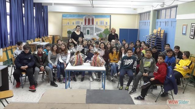 αναμνηστική φωτό με μαθητές της Α΄τάξης